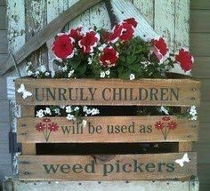 latest update on progress outside...unruly children will be used as weed pickers!