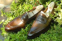 saintcrispins:  New Saint Crispin's classic penny loafer, model...
