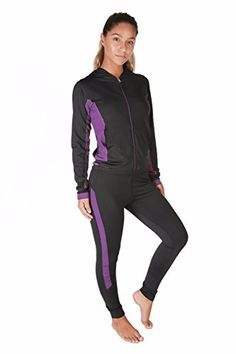 Women's Athletic Clothing Sets - Verscos Womens Stretch 3 Pieces Sets Top Tank Pant Leggings Jacket 64154 -- To view further for this item, visit the image link.