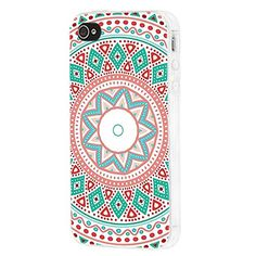 Amazon.com: iPhone 4s Case, iphone4s case,iphone 4 case,iphone4 case, ChiChiC full Protective unique Stylish Case slim flexible durable Soft TPU Cases Cover for iPhone 4 4g 4s,geometric retro ethnic pink green teal mandala: Cell Phones & Accessories