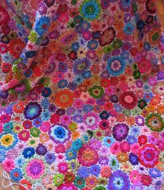 love this - crochet flower blanket