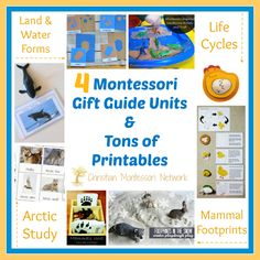 This is an amazing Montessori gift guide for unit studies with tons of free printables. These activities are perfect for the toddler and preschooler.  - www.christianmontessorinetwork.com
