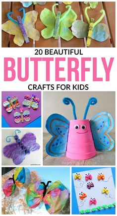 In celebration of spring, we've put together a list of 20 butterfly crafts for kids that will be perfect for celebrating spring with the littles! via @acraftyspoonful