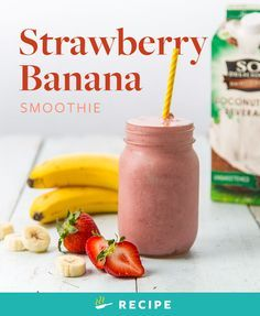 As classic as they come, strawberries and bananas are best together. There's good reason this blend of fruits has stood the test of time; it's just as delicious as it is simple.  So, throw these few ingredients into a blender, and enjoy a taste of wonderful simplicity.