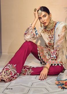 House of Faiza brings you premium quality Pakistani Designer Suits from ANAYA BY KIRAN CHAUDHRY in pure fabrics under an affordable price tag. giving you a variety of colors and styles to choose from. Pakistani Designer Suits, Pakistani Dress Design, Cool Fabric, Wedding Wear, Luxury Wedding, Pattern Fashion, Designer Dresses, Trending Outfits, Clothes For Women