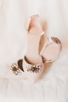 Such lovely bridal shoes! Photography by Chloe Luka