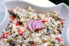 Salata de pui cu ciuperci si maioneza