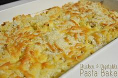 Chicken and Vegetable Pasta Bake : The Organised Housewife : Ideas for organising and Cleaning your home