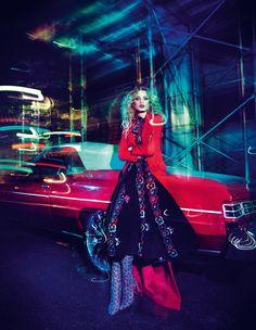 Valentino Celia Birtwell gown - How To Spend It - photo Luis Monteiro