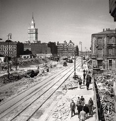Rising from the Ruins - Pictures of Warsaw, Poland in 1950 ~ vintage everyday Poland Ww2, Warsaw Poland, Vintage Photographs, Vintage Photos, Warsaw City, Cities, Playmates Of The Month, Ppr, Fotografia