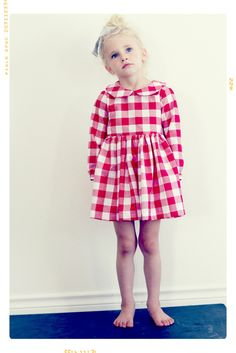 The Autumn Harvest Peter Pan Collar Dress. Limited Edition. Fleur + Dot. Vintage Modern Kids' Fashion Apparel.