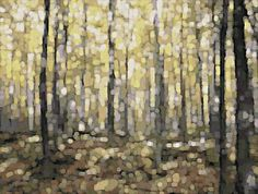 Mondiran Trees In The Forest Art