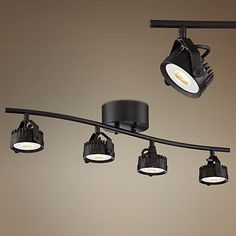 A Striking Led Track Fixture With Four Swiveling Spotlights To Complete The Chic Urban Look
