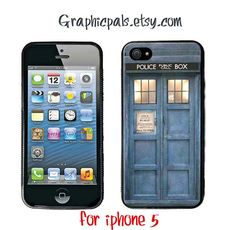 TARDIS Doctor Who iPhone 5  case, Rubber silicone case. $15.00, via Etsy.