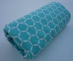 Teal Geometric Stroller Blanket by Greenerbeginnings on Etsy, $34.00