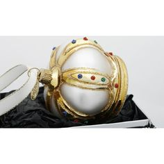 Danish Christmas ornaments in hand blown glass - Crown - Brink Nordic, Denmark