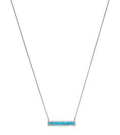 Pavé Bar Pendant Necklace by Michael Kors