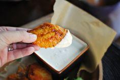 Spicy Garlic Chicken Wings   Blue Cheese Dip