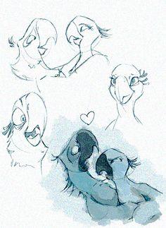 Rio Sketches by ~Misscouzie on deviantART