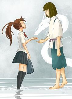 If chihiro and haku meet again one day! This would be so cool...