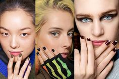 Fall's biggest beauty trends: The deep-v manicure