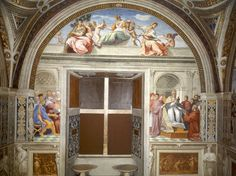 De zeven hoofddeugden ~ 1511 ~ Fresco ~ Stanza della Segnatura, Musei Vaticani, Vaticaanstad