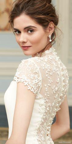 arianna cap sleeve wedding dress back view