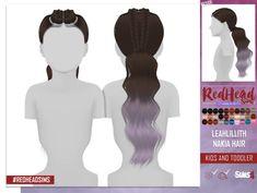 Redhead Sims CC Sims 4 Toddler Clothes, Sims 4 Cc Kids Clothing, Sims 4 Mods Clothes, Sims Mods, Toddler Hair, Hair Kids, Girl Clothing, Toddler Outfits, Toddler Girls