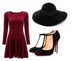 """""""Red"""" by nickiklau on Polyvore featuring Christian Louboutin and Eugenia Kim"""