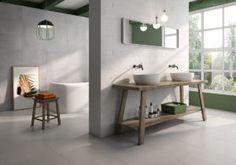 Adine Tiles by Geotiles. Brick Effect Tiles, Bathroom Goals, Bedroom Wardrobe, Double Vanity, Loft, Furniture, Personality, Design, Home Decor