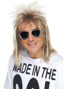 [Mens Halloween Costumes] Smiffy's Men's Blonde Mullet Wig, One Size, 5020570420218 * You can find more details by visiting the image link. (This is an affiliate link) 80s Mullet, Mullet Wig, Halloween Costume Accessories, Halloween Outfits, Costume Wigs, Costume Dress, 1980s Fancy Dress, Halloween Wigs, Adult Halloween