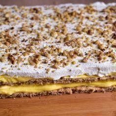 Prajitura Ana - Lucky Cake Romanian Desserts, Romanian Food, Sweets Recipes, Baking Recipes, Cake Recipes, Lucky Cake, Delicious Desserts, Yummy Food, Homemade Sweets
