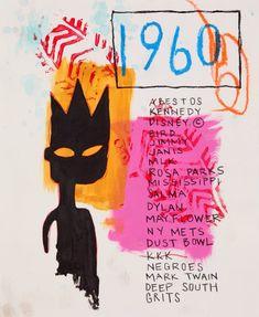 JEAN MICHEL BASQUIAT Jean Basquiat, Jean Michel Basquiat Art, Basquiat Paintings, Arte Peculiar, Andy Warhol, Oeuvre D'art, Art Inspo, Modern Art, Museum