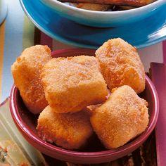 Gebackene Puddingschnitten