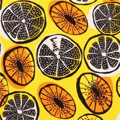 yellow lime fruit Oxford fabric from Japan 1