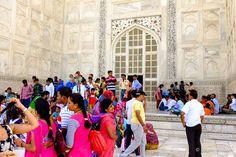 Taj Mahal: Saindo da câmara central o pessoal aproveita para algumas fotos