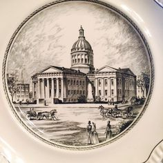 A personal favorite from my Etsy shop https://www.etsy.com/listing/268037197/spode-st-louis-plate-7-old-st-louis