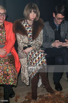 Anna Wintour attends the Off-White show as part of the Paris Fashion Week Womenswear Fall/Winter 2017/2018 on March 2, 2017 in Paris, France.