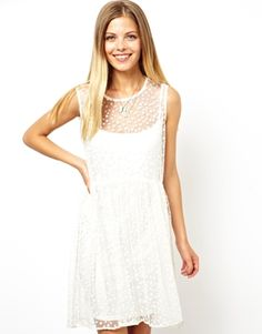 Image 1 of ASOS Spot Smock Dress