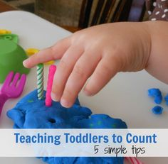 Counting with Toddlers ~ 5 Simple Tips  (A Mom With A Lesson Plan)