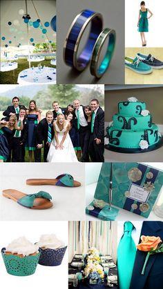 Wedding Inspirations: Teal & Navy
