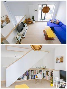 Jesse & Jolijn's Art Appreciation in Antwerp House Call | Apartment Therapy. lahedate värvidega hõum