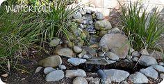 Reinventing the Ordinary: Waterfalls . DIY Reinventing the Ordinary: Waterfalls . Waterfall Project, Diy Waterfall, Garden Waterfall, Backyard Water Feature, Ponds Backyard, Fun Backyard, Pond Landscaping, Landscaping With Rocks, Diy Garden