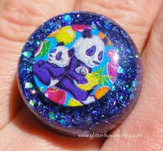 Purple Panda Vintage 90's Lisa Frank Resin Statement Ring