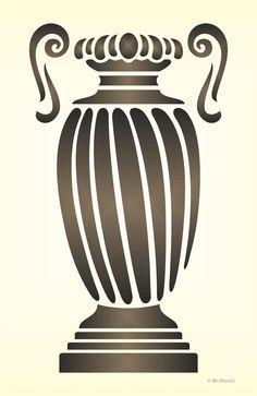 Maler Wandschablone Wandschablonen Schablone Vase Amphore Antik 2 | eBay