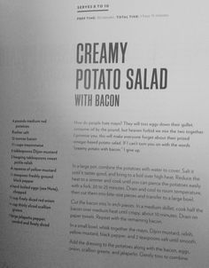 Chrissy Teigen's Creamy Potato Salad with Bacon