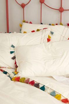 fun, colorful tassel duvet (now on sale!)