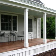 New house entrance exterior front porches white trim ideas Front Porch Railings, Front Porch Design, Front Deck, Front Yards, Porch Stairs, Patio Railing, Front Verandah, Porch Bench, Chair Bench