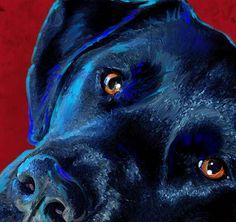 black lab art.............this looks just like Buddy!