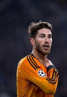 Sergio Ramos in Champions League action for Real Madrid.